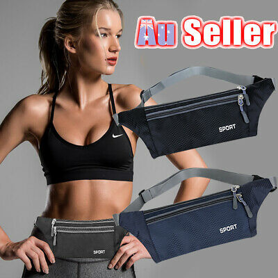Hiking Money Bum Bag Sport Waist Belt Pouch Zip Fanny Pack Phone Travel Running