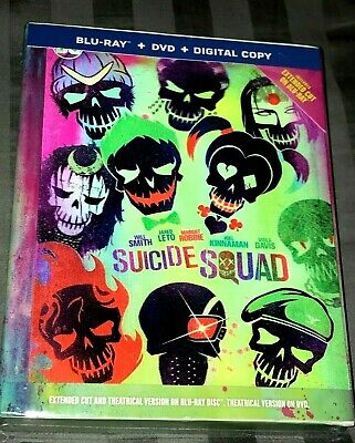 Suicide Squad Target Exclusive Lenticular Digibook -Bluray/Dvd/Hd Disc Set *New*