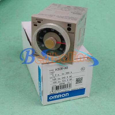 OMRON H3CR-A8 Timer,8 Pin,100-240VAC,100-125VDC,1.2 seconds to 300 hours