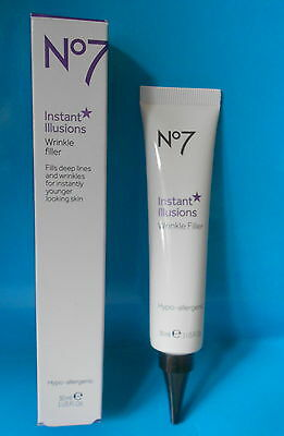 Boots No7 Instant Illusions Wrinkle Filler Anti-Ageing Eyes & Face 30ml - BNIB