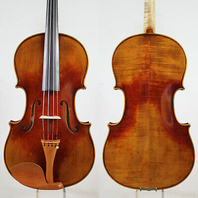 Oil Antique Vanish!A Strad Viola 16.5 inch Copy!  #5199 Deep Warm Tone!