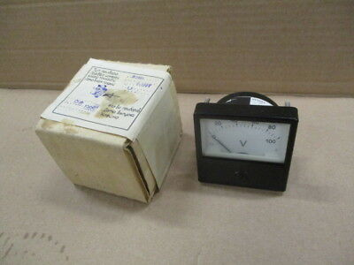 Voltmeter М1001 scale 0-100V accuracy class 1.5 USSR 1985