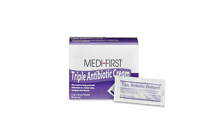 Medi-First Triple Antibiotic Antiseptic Pain Relief Cream 0.5 gm Packet (50 Pcs)