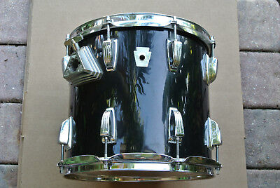"""CHICAGO ERA! LUDWIG 12"""" BLACK TOM 12X11 CLASSIC 6-PLY for YOUR DRUM SET! #A661"""