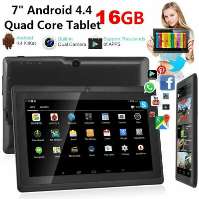 7 Inch Android Tablet 16GB Quad Core 4.4 Dual Camera Bluetooth Wifi Tablet UK