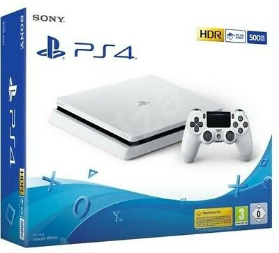 Sony PlayStation 4 Slim 500GB White Console - Boxed with Controller/Accessories