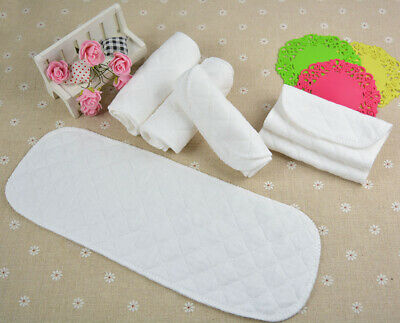1/5/10pcs Washable Reusable Baby Cotton Cloth Diapers Liners Insert 3 Layers
