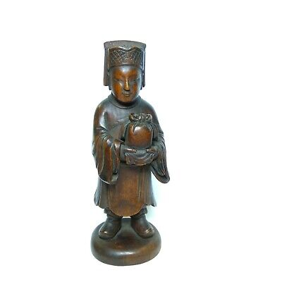 Antique Chinese wooden figurine, 19th-20th century.