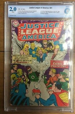 Justice League Of America #21 CBCS 2.0 1st App Silver Age JSA White Pages 1963