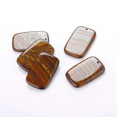 1PCS Tiger's Eye Jewelry Rectangular Natural Big Pendant Stone Long Necklace