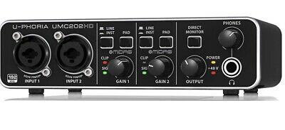 NEW Behringer U-Phoria UMC202HD Audio Interface