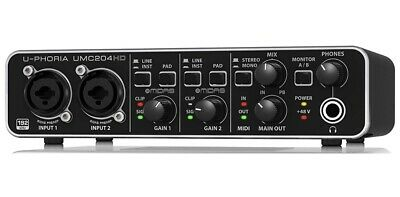 NEW Behringer UMC204HD U-phoria USB Audio Interface