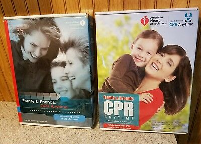 Family & Freinds CPR Anytime Lifesaving Skills in 20 Minutes lot of 2