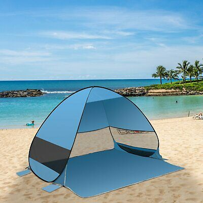 Camping 3-4 Men Beach Tent Outdoor Anti UV Pop Up Instant Folding Sun Shelter