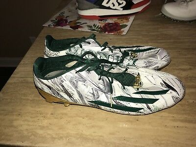 3ad05eb2880 ADIDAS ADIZERO 5-STAR 5.0 Snoop Dogg Money Football Cleats SZ 10 ...