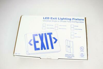 Qty 6 - LED Exit Lighting Fixture Red Lettering White housing Battery Backup