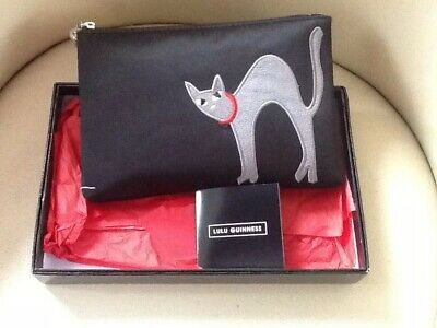 b7d73bcacee Lulu Guinness Black Cat + Mouse Pouch Mouse On Back Jingling Bell Pull Rare  New