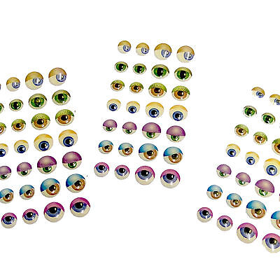 """""""3D"""" Coloured Eye Stickers - SELF-ADHESIVE (140)"""