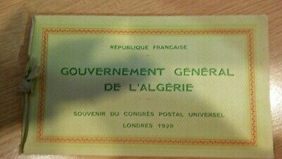 Very rare Algerian stamp souvenir booklet from the PUC in London 1929