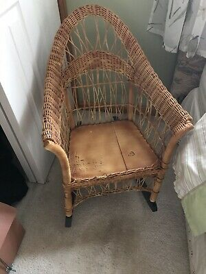 Vintage Wicker Child's  Rocking Chair Rocker Antique 1930's