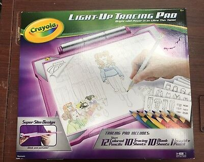 CRAYOLA LIGHT-UP TRACING Pad Pink, Coloring Board for Kids, Gift ...