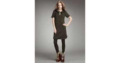 dafe588515a36 MARC by MARC JACOBS Double-Knit Wool Shift Dress Short Sleeves BLACK Size S  4