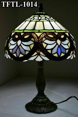 Antique Style Multi Colour New TIFFANY Table Lamp Bed/Living Room Hand Crafted