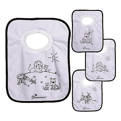 Dreambaby Terry Cloth Pullover Bibs Pack of 4