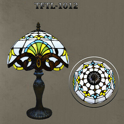 Hand Crafted Antique Style Multi Colour New TIFFANY Table Lamp Bed/Living Room