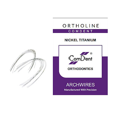 NiTi Arch wires Nickel Titanium Super Elastic Natural Form Pack of 10 by Comdent