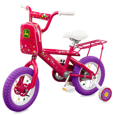 John Deere Pink Flower 12 inch Girls Bicycle #LP53340