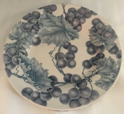 "Royal Staffordshire Salad Plates 8 1/2"" Earthenware England Set Of 2 Grapes"