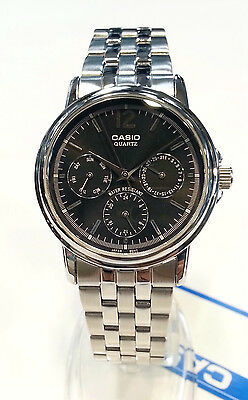 CASIO Midsize Multi Function dial BLACK dial  MTP1174A-1A  MTP1174A new