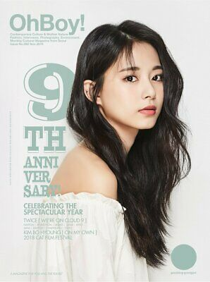 OhBoy! Oh Boy 9th Anniversary Official Magazine TWICE Cover TZUYU ver. 2018