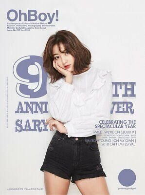 OhBoy! Oh Boy 9th Anniversary Official Magazine TWICE Cover JIHYO ver. 2018