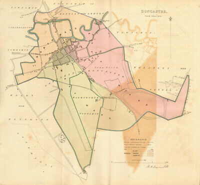 DONCASTER borough/town plan. BOUNDARY REVIEW. Yorkshire. DAWSON 1837 old map