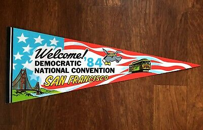 1984 San Francisco Democratic National Convention Pennant Vintage Rare US USA
