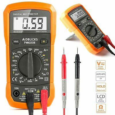 Amp Meter Digital Multimeter Ohm Voltmeter Voltage Tester Measure Frequency