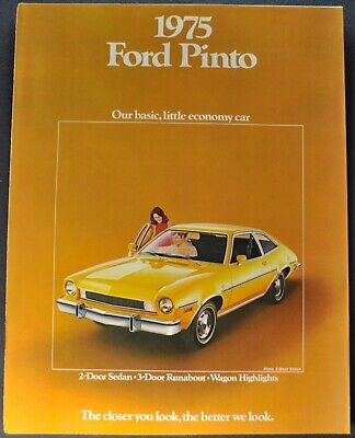 1975 Ford Pinto Catalog Brochure Runabout Wagon Squire Excellent Original 75