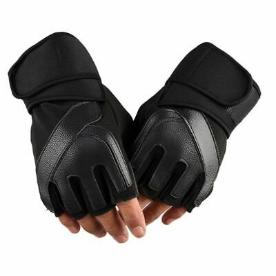 Mens Gym Gloves Bodybuilding Crossfit Fitness Sports Dumbbell Barbell Lifting