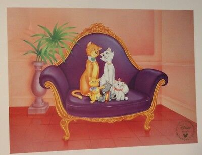 Lithographie Walt Disney - Les Aristochats - Litho Exclusive Commémorative
