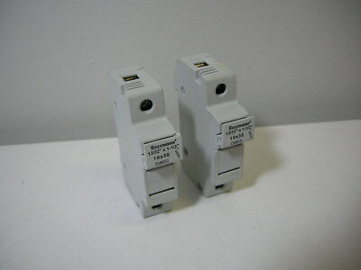 "(2) Bussmann CHM1D Fuse Holder 690V 32A 3W 10x38 13/32""x1-1/2"" *NEW"