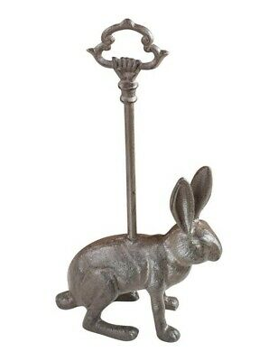 Victorian Trading Co Cast Iron Jack Rabbit Bunny Doorstop Door Stopper