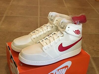 quality design 5bb5c b1068 Nike Air Jordan AJ1 KO High OG Canvas Sail Varsity Red 638471 102 Men s  Sizes