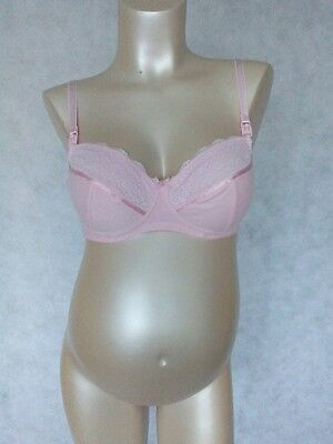 Ex Blooming Marvellous NEW X2 Maternity Nursing/Feeding Bras Pink & Navy 40B/40C