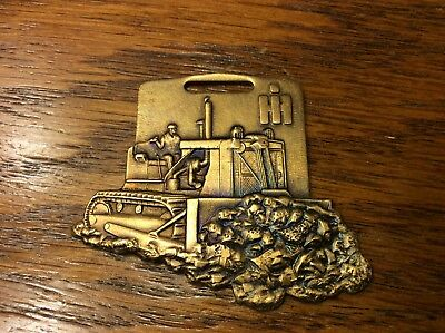 Vintage IH Dozer Watch Key Fob Bark River Equipment Co Michigan (IS-579)