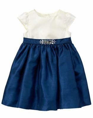 Gymboree Emerald Party Christmas Fancy Party Holiday Dress /& Headband Set 2T NWT