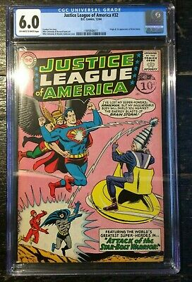 Justice League of America #32 1st Appearance of Brain Storm CGC 6.0