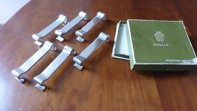 Christofle Gallia. knife rest. Silverplate. set of 6. Art déco. Porte-couteaux