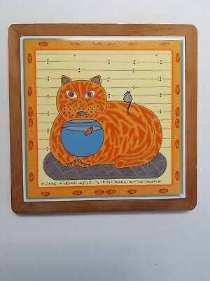 Win Ng Kitty Katfish Wall Tile Trivet